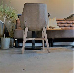 woonbeton houten vloer