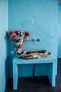marmorino blauw